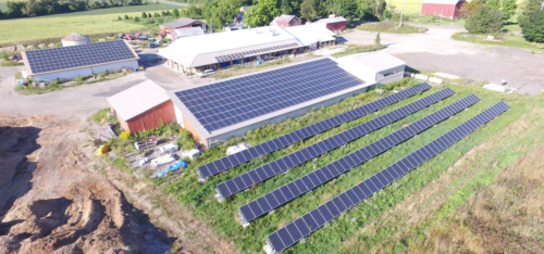 Food Hub Solar Panels Aerial Shot