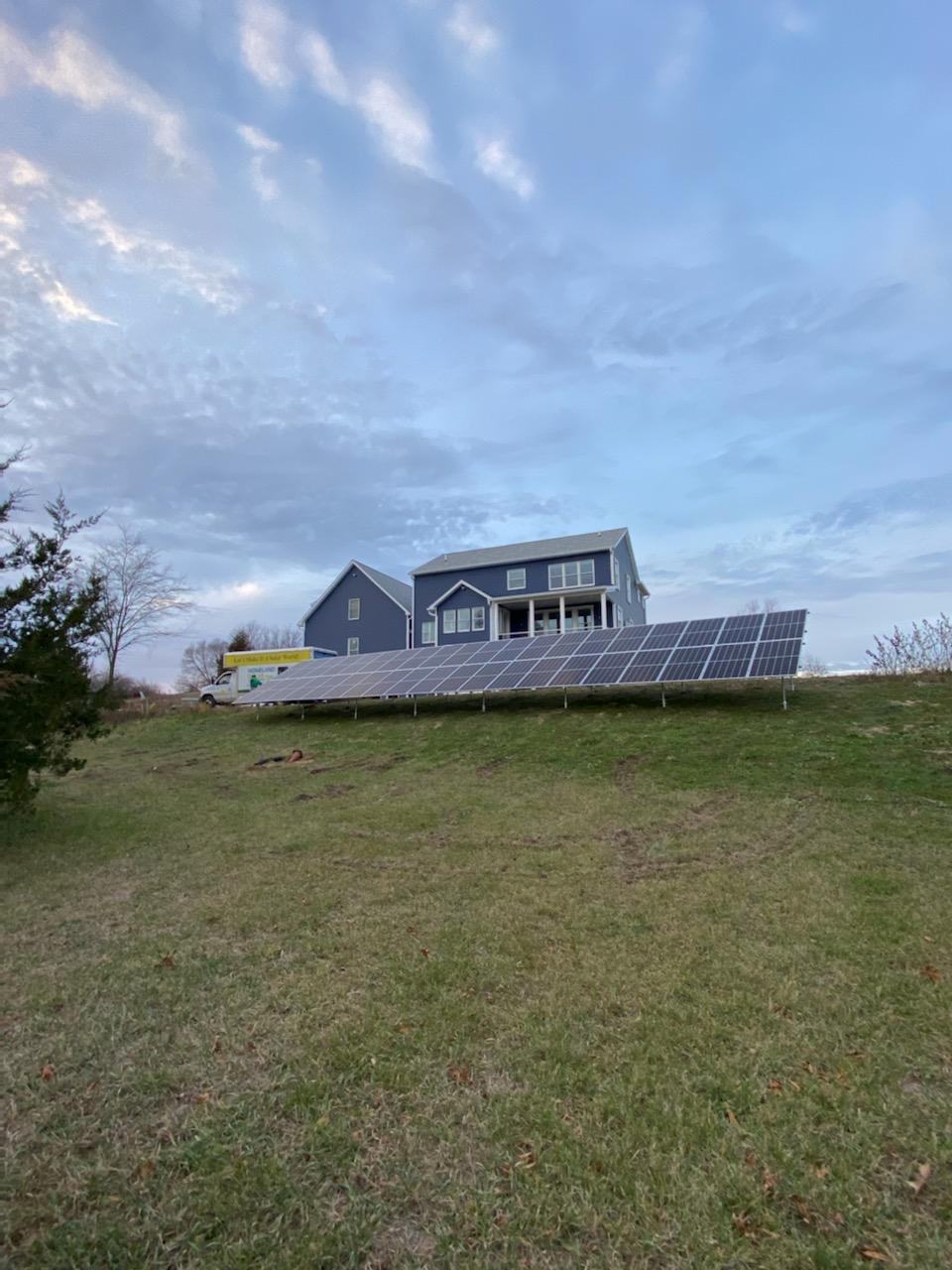 Residential Ground Mount of Solar Panels